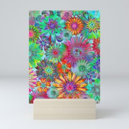 Rivalry of Flowers - multicolor Mini Art Print