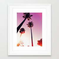 palm tree Framed Art Prints featuring Palm tree by Emma.B