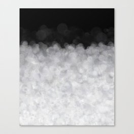 Snow Clouds in the Dark - Abstract Canvas Print