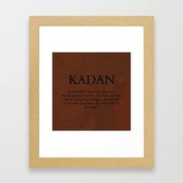 Kadan Framed Art Print