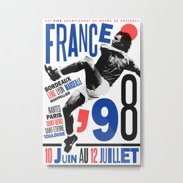 World Cup: France 1998 Metal Print