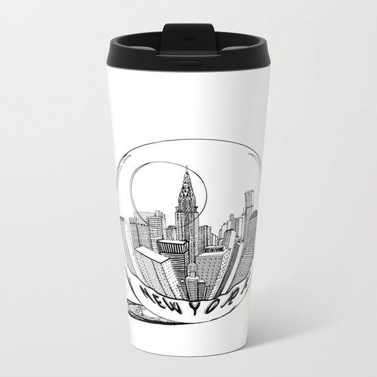 New York in a glass ball Metal Travel Mug