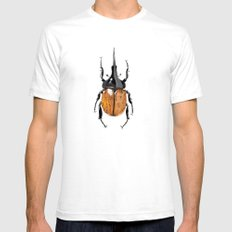 Hercules Beetle SMALL Mens Fitted Tee White
