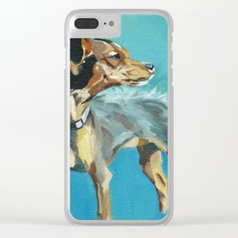 Mabel Jane the Marvelous Mystery Mutt Clear iPhone Case