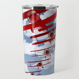 Retro Biplanes Travel Mug