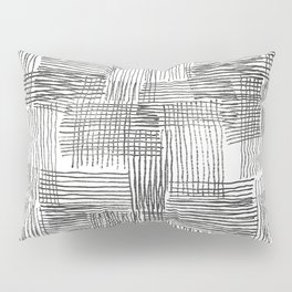 Parallel and perpendicular pencil lines Pillow Sham