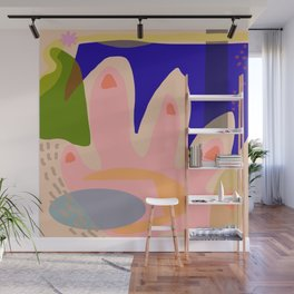 Shapes and Layers No.5 - Modernist abstract hand and shapes Wall Mural