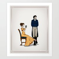 pride and prejudice Art Prints featuring Pride and Prejudice by wolfanita