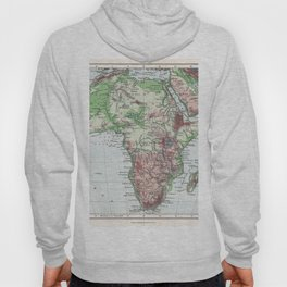 Antique Map of Africa Hoody
