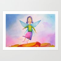 Lili Butterfly Art Print