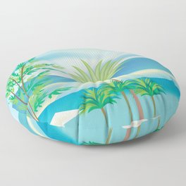 St. Kitts and Nevis - Skyline Illustration by Loose Petals Floor Pillow