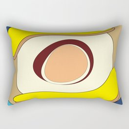 Abstract banana and egg - digital art fantasy on a blue background Rectangular Pillow