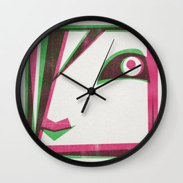 Two tone girl Wall Clock