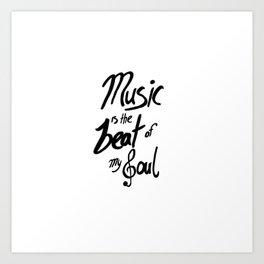 Listen to the Music Art Print
