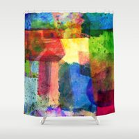 water color Shower Curtains featuring water color by Pao Designs