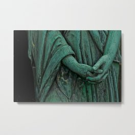 green fingers Metal Print