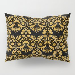Golden ornament in baroque style Pillow Sham