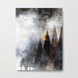 TREES under MAGIC MOUNTAINS VIII-c Metal Print