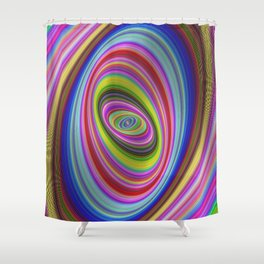 Colorful hypnosis Shower Curtain