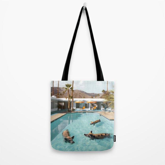 Pig Poolside Party Tote Bag