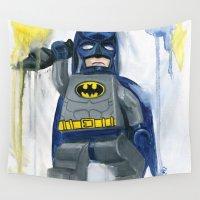superhero Wall Tapestries featuring Superhero Lego by Toys 'R' Art