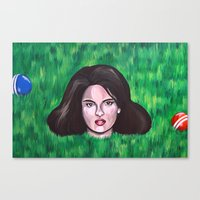 heathers Canvas Prints featuring Heathers by Portraits on the Periphery