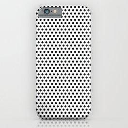 Modern black and white simple elegant pattern iPhone Case