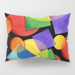 Candy Rainbow Geometric Pillow Sham