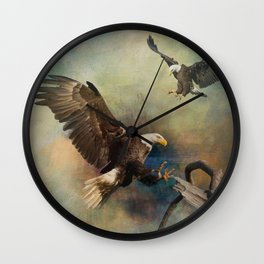 Eagles Are Landing Wall Clock