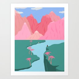 Girls' Oasis Art Print