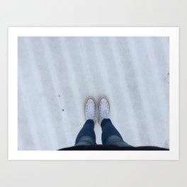 Conversing with snow Art Print
