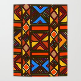 African Style No6, Sahara Desert Poster