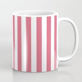 Large Nantucket Red and White Cabana Tent Stripes Coffee Mug