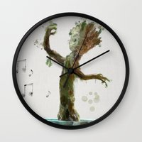 groot Wall Clocks featuring Baby Groot by Scofield Designs
