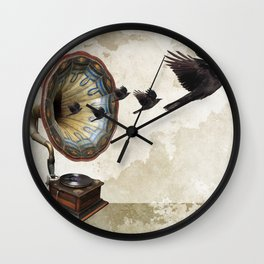 the sound of crows Wall Clock