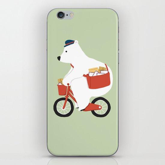 Polar bear postal express iPhone & iPod Skin