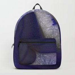 Blue agate gem pattern Backpack