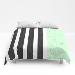 LIGHT MINT STRIPES Comforters