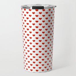 '80s Hearts - Red. Back to Basics Travel Mug