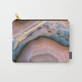Pink and Blue agate 0425 Carry-All Pouch