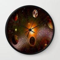 verse Wall Clocks featuring KANDY-VERSE - 106 by Lazy Bones Studios