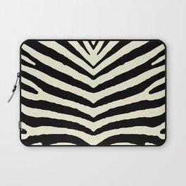 Beige and Black Zebra Jungle Stripes Laptop Sleeve