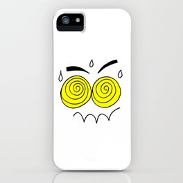 Hand drawn funny face iPhone Case