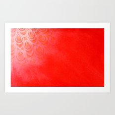 Feathering Red Art Print