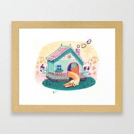 Creamy dreams the day away. Framed Art Print