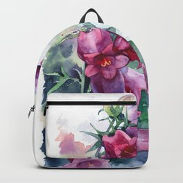 Campanula watercolor flowers aquarelle bellflowers Backpack
