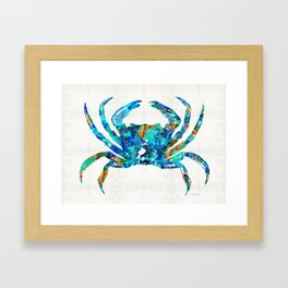 Blue Crab Art by Sharon Cummings Framed Art Print