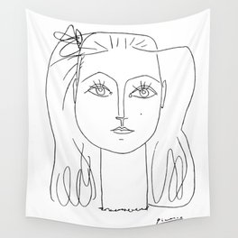 Pablo Picasso, Francoise Gilot, 1946 Artwork, Sketch Reproduction, Posters, Tshirts, Women, Men, Kid Wall Tapestry