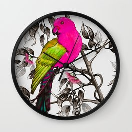 King Parrot Wall Clock