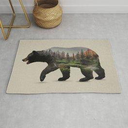 The North American Black Bear Rug